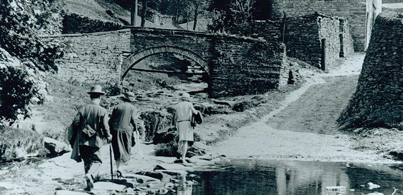 Goyt's Bridge before the flood