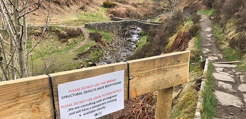 Packhorse bridge closed