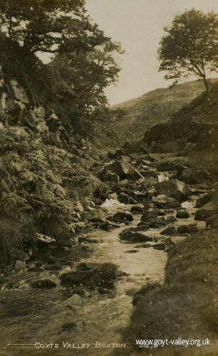 The River Goyt at Goytsclough. c.1910