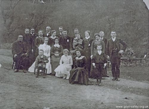 Errwood Hall servants. c. 1903.