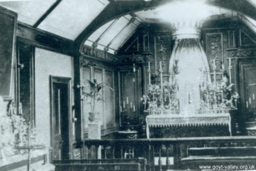 Errwood Hall Chapel. c.1920. Gerald Hancock Collection.