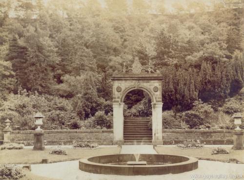 Errwood Hall gardens. c.1900.