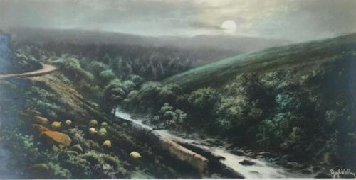 The Goyt under a full moon