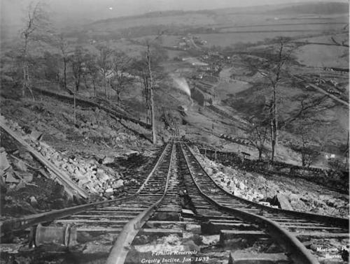 Gravity incline at Issue Tor Quarry