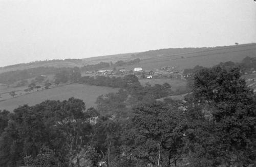 View across temporary village