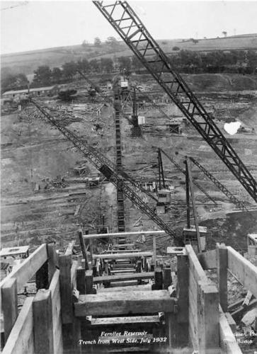 Trench from west side