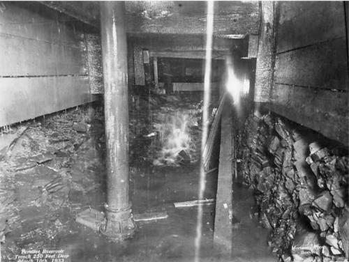 Trench 230ft deep March 1933